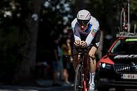 Eventual Stage Winner Stefan Küng (SUI/BMC) during his TT.  <br /> <br /> Binckbank Tour 2018 (UCI World Tour)<br /> Stage 2: ITT Venray (NL) 12.7km