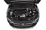 Car stock 2020 Opel Corsa Elegance 5 Door Hatchback engine high angle detail view