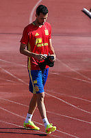 Spanish Sergio Busquets during the second training of the concentration of Spanish football team at Ciudad del Futbol de Las Rozas before the qualifying for the Russia world cup in 2017 August 30, 2016. (ALTERPHOTOS/Rodrigo Jimenez) /NORTEPHOTO