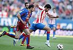 Levante's Juanfran Garcia against Atletico de Madrid's Diego Costa during La Liga Match. April 24, 2011. (ALTERPHOTOS/Alvaro Hernandez)
