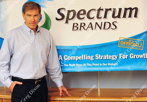 Dave Lumley, the new CEO of Spectrum Brands, poses at the Rayovac office complex on Madison's west side on Thursday afternoon 4/15/10
