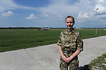 British Royal Air Force Pilot Officer Piia Gubbins, 21, the only Estonian-Brit in the Royal Air Force and British Ministry of Defence, is on her first tour as part of NATO's Baltic Air Policing mission at Ämari Air Force Base, Estonia on June 7, 2019.
