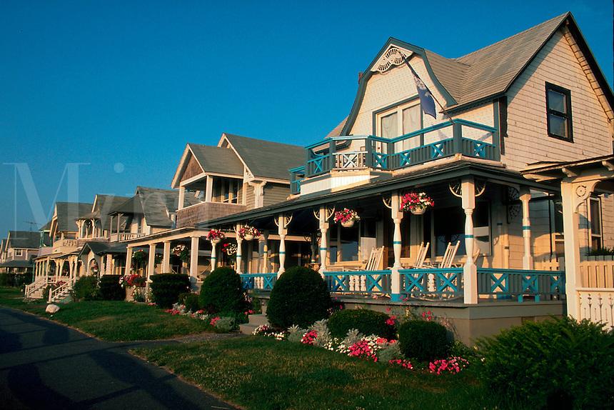 Houses in Oak Bluffs. Martha's Vineyard, Massachusetts.