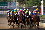 MAY 2, 2015: The field passes the grandstands for the first time during the 141st running of the Kentucky Derby at Churchill Downs in Louisville, Kentucky. Jon Durr/ESW/CSM