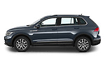 Car Driver side profile view of a 2021 Volkswagen Tiguan Elegance 5 Door SUV Side View
