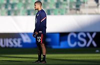 ST. GALLEN, SWITZERLAND - MAY 30: DeAndre Yedlin #22 of the United States warming up before a game between Switzerland and USMNT at Kybunpark on May 30, 2021 in St. Gallen, Switzerland.