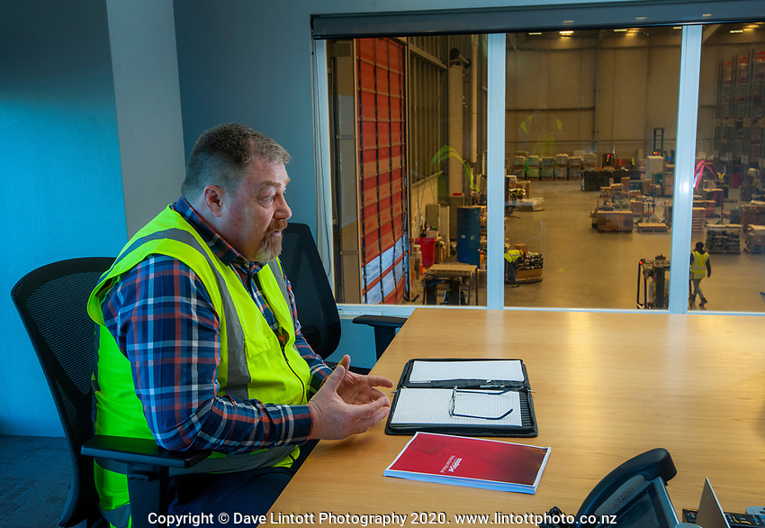 Masterpet warehouse and logistics manager Richard Graham at Masterpet head office in Wellington, New Zealand on Tuesday, 29 September 2020. Photo: Dave Lintott / lintottphoto.co.nz