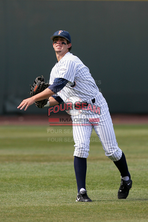 Anthony Hutting of the Cal.St. Fullerton Titans during game against the UCLA Bruins at Jackie Robinson Stadium in Los Angeles,California on June 12, 2010. Photo by Larry Goren/Four Seam Images