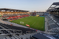 WASHINGTON, DC - SEPTEMBER 06: The sun sets before a game between New York City FC and D.C. United at Audi Field on September 06, 2020 in Washington, DC.