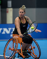 Rotterdam, Netherlands, December 14, 2016, Topsportcentrum, Lotto NK Tennis,  Michaela Spaanstra (NED)<br /> Photo: Tennisimages/Henk Koster
