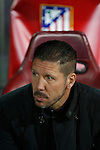 Atletico de Madrid´s Diego Pablo Simeone during the UEFA Champions League round of 16 second leg match between Atletico de Madrid and Bayer 04 Leverkusen at Vicente Calderon stadium in Madrid, Spain. March 17, 2015. (ALTERPHOTOS/Victor Blanco)