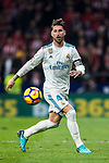 Sergio Ramos of Real Madrid in action during the La Liga 2017-18 match between Atletico de Madrid and Real Madrid at Wanda Metropolitano  on November 18 2017 in Madrid, Spain. Photo by Diego Gonzalez / Power Sport Images