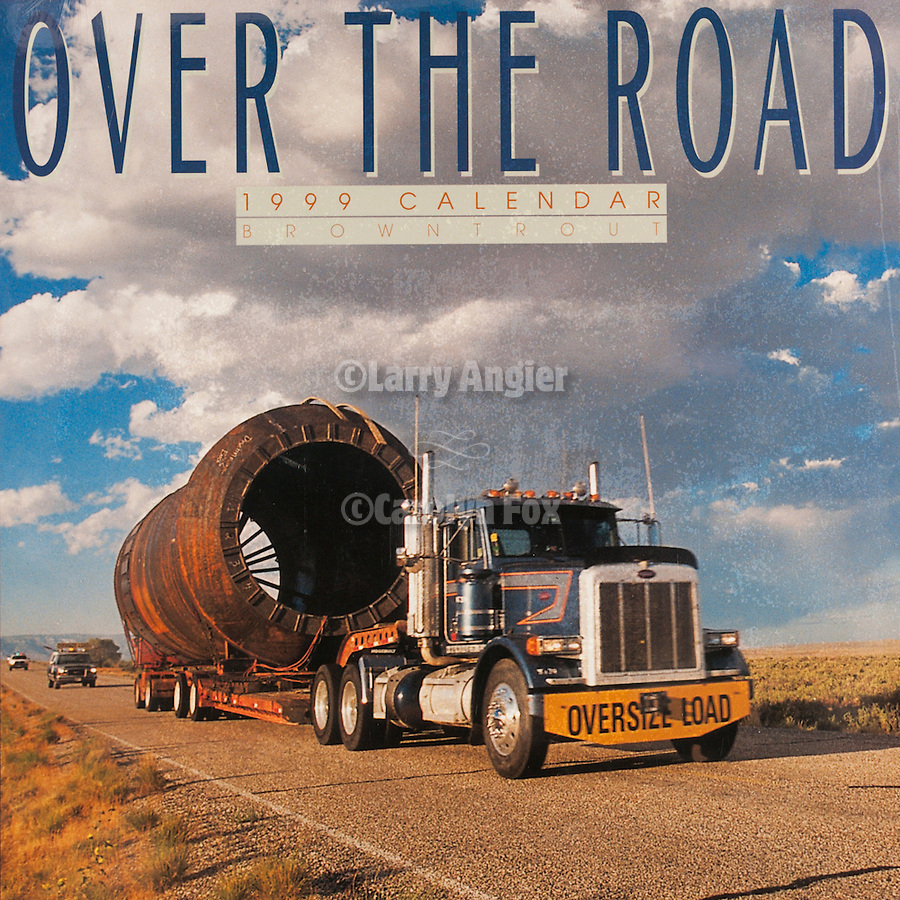 Published photography by Larry Angier..Over the Road 1999 Calendar cover, Browntrout Publishers