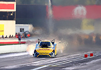 Sep 5, 2020; Clermont, Indiana, United States; NHRA funny car driver J.R. Todd during qualifying for the US Nationals at Lucas Oil Raceway. Mandatory Credit: Mark J. Rebilas-USA TODAY Sports