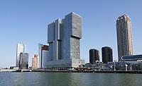 Nederland - Rotterdam- 2020.   Hoogbouw op de Wilhelminapier.   Foto ANP / Hollandse Hoogte / Berlinda van Dam