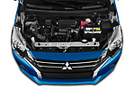 Car Stock 2020 Mitsubishi Space-Star IN 5 Door Hatchback Engine  high angle detail view