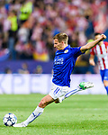 Marc Albrighton of Leicester City in action during their 2016-17 UEFA Champions League Quarter-Finals 1st leg match between Atletico de Madrid and Leicester City at the Estadio Vicente Calderon on 12 April 2017 in Madrid, Spain. Photo by Diego Gonzalez Souto / Power Sport Images