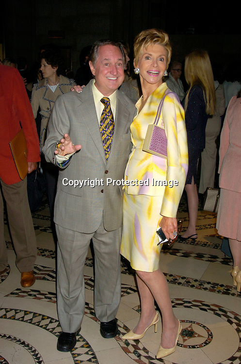 Neil and Leba Sedaka ..at the Dennis Basso Fall/Winter 2004 Fur Fashion Show on ..May 26, 2004 at Cipriani 42nd Street . Photo by Robin Platzer, Twin Images