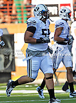 Brigham Young Cougars defensive lineman Eathyn Manumaleuna (55) in action during the game between the Brigham Young Cougars and the Texas Longhorns at the Darrell K Royal - Texas Memorial Stadium in Austin, Texas. Texas defeats Brigham Young 17 to 16...