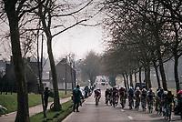 peloton in echelons after the final ascent of the Kemmelberg<br /> <br /> 81st Gent-Wevelgem in Flanders Fields (1.UWT)<br /> Deinze > Wevelgem (251km)