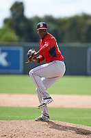 Boston Red Sox pitcher Victor Diaz (84) during an instructional league game against the Minnesota Twins on September 26, 2015 at CenturyLink Sports Complex in Fort Myers, Florida.  (Mike Janes/Four Seam Images)
