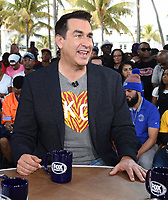 """MIAMI BEACH, FL - JANUARY 31: Rob Riggle on the set of """"Skip & Shannon: Undisputed"""" on the Fox Sports South Beach studio during Super Bowl LIV week on January 31, 2020 in Miami Beach, Florida. (Photo by Frank Micelotta/Fox Sports/PictureGroup)"""