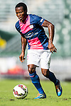 Christian Kwesi Annan of Kitchee in action during the HKFA Premier League between South China Athletic Association vs Kitchee at the Hong Kong Stadium on 23 November 2014 in Hong Kong, China. Photo by Aitor Alcalde / Power Sport Images