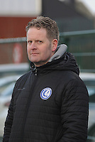 20160116 - ZULTE , BELGIUM :  Gent's coach Tony Vermeiren     pictured during a soccer match between the women teams of ZULTE-WAREGEM and AA GENT B  , during the fifteenth matchday in the First League - Eerste Nationale season, Saturday 16 January 2016 . PHOTO DIRK VUYLSTEKE