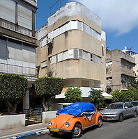 A Bauhaus style building at 21 Yosef Yisraels Street. Tel Aviv is known as the White City in reference to its collection of 4,000 Bauhaus style buildings, the largest number in any city in the world. In 2003 the Bauhaus neighbourhoods of Tel Aviv were placed on the UNESCO World Heritage List. .