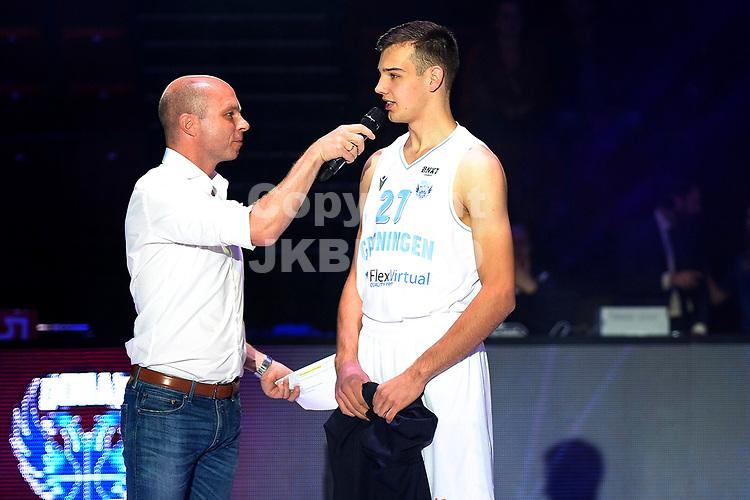 GRONINGEN - Basketbal , Open Dag met Donar - Antwerp Giants , voorbereiding seizoen 2021-2022, 05-09-2021,  Donar speler Mark Roorda