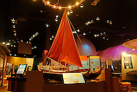 The Polynesian voyaging section of the University of Hawaii's Imiloa planetarium, where astronomy meets Hawaiian culture, Hilo, Big Island.