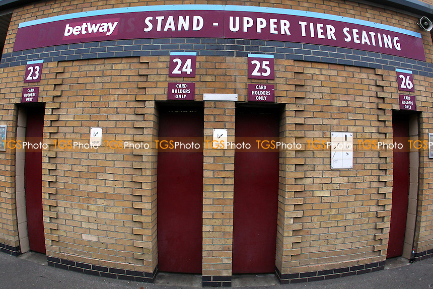 Turnstile block ahead of West Ham United Ladies vs Tottenham Hotspur Ladies, FA Women's Premier League Football at the Boleyn Ground, Upton Park