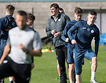 St Johnstone Training…29.09.17<br />Manager Tommy Wright pictured watching training at McDiarmid Park ahead of tomorrow's trip to Aberdeen.<br />Picture by Graeme Hart.<br />Copyright Perthshire Picture Agency<br />Tel: 01738 623350  Mobile: 07990 594431