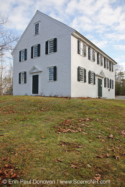 Walpole Meetinghouse in South Bristol, Maine USA.This Meetinghouse is listed on the National Register of Historic Places.