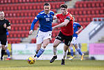 St Johnstone v Clyde…17.04.21   McDiarmid Park   Scottish Cup<br />Michael O'Halloran and Lloyd Robertson<br />Picture by Graeme Hart.<br />Copyright Perthshire Picture Agency<br />Tel: 01738 623350  Mobile: 07990 594431
