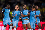 Manchester City squad reacts during their 2016 International Champions Cup China match at the Shenzhen Stadium on 28 July 2016 in Shenzhen, China. Photo by Victor Fraile / Power Sport Images