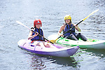 Ladies canoeing taster session at Cardiff International White Water Centre in Cardiff Bay.<br /> 06.07.13<br /> ©Steve Pope-SPORTINGWALES