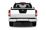 Straight rear view of 2018 Nissan Frontier S-King-Cab 4 Door Pickup Rear View  stock images