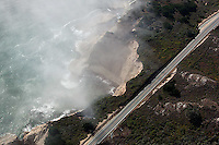 aerial photograph Highway One coastal Santa Cruz county, California