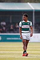 Reon Joseph of Ealing Trailfinders seen during the Greene King IPA Championship match between Ealing Trailfinders and Nottingham Rugby at Castle Bar , West Ealing , England  on 30 March 2019. Photo by Carlton Myrie.