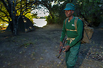 Anti-poaching scout getting ready to deploy, Kafue National Park, Zambia