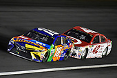 Monster Energy NASCAR Cup Series<br /> Monster Energy NASCAR All-Star Race<br /> Charlotte Motor Speedway, Concord, NC USA<br /> Saturday 20 May 2017<br /> Kyle Busch, Joe Gibbs Racing, M&M's Caramel Toyota Camry and Kyle Larson, Chip Ganassi Racing, Target Chevrolet SS<br /> World Copyright: Nigel Kinrade<br /> LAT Images<br /> ref: Digital Image 17CLT1nk06315