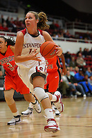 10 January 2008: Stanford Cardinal Kayla Pedersen during Stanford's 81-45 win against the Oregon State Beavers at Maples Pavilion in Stanford, CA.