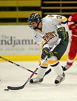 25 October 2008: University of Vermont Catamount forward Celeste Doucet, a Sophomore from Memramcook, New Brunswick, in action against the Cornell University Big Red at Gutterson Fieldhouse, in Burlington, Vermont. The Big Red defeated the Catamounts 5-1 to sweep their 2-game series in Vermont...Mandatory Photo Credit: Ed Wolfstein Photo
