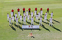 Essex squad and coaching staff pose for a co-vid safe team photo during the Essex CCC Press Day at The Cloudfm County Ground on 30th July 2020