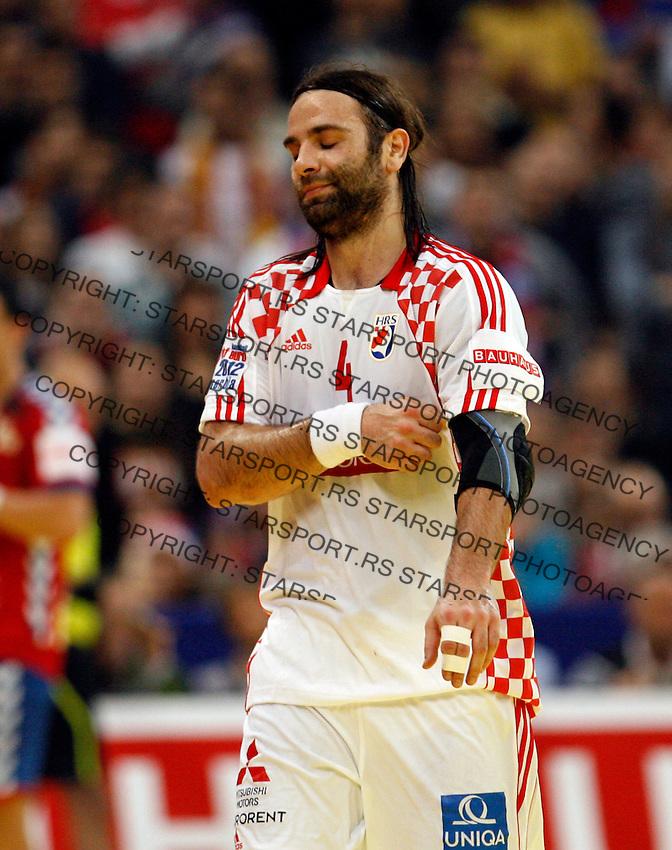 Croatian national handball team player Ivano Balic during men`s EHF EURO 2012 championship semifinal handball game between Serbia and Croatia in Belgrade, Serbia, Friday, January 27, 2011.  (photo: Pedja Milosavljevic / thepedja@gmail.com / +381641260959)