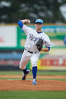 Burlington Royals starting pitcher Nolan Watson (23) in action against the Bluefield Blue Jays at Burlington Athletic Park on July 1, 2015 in Burlington, North Carolina.  The Royals defeated the Blue Jays 5-4. (Brian Westerholt/Four Seam Images)
