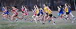 WATERTOWN CT. - 16 November 2020-111620SV06-Runners from Thomaston and Northwestern take off with other Berkshire League runners during the Berkshire League cross country championships in Watertown Monday.<br /> Steven Valenti Republican-American