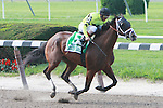 Buster's Ready and John Velazquez win the 55th running of the Grade 1 Mother Goose Stakes for 3 year old fillies, at 1 1/16 mile. Trainer Todd Pletcher. Owner The Estate of Edward P. Evans