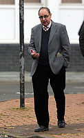 Homeopath Brian Williams, 69, who is on trial at Merthyr Tydfil Crown Court, accused of sexually assaulting two women patients while giving them ovary and back massages at his surgery in Glasbury-on-Wye in Powys, Wales.